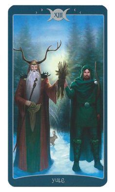 Yule (Arcana 13, sometimes known as Death) from the Book of Shadows Tarot, vol. 1.