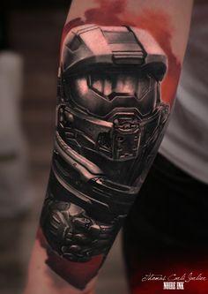 halo master chief tattoo - Google Search