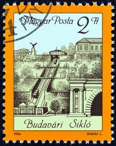 Picture of HUNGARY - CIRCA 1986 A stamp printed in Hungary shows Budapest Funicular - Budavari Siklo, circa 1986 stock photo, images and stock photography. Buda Castle, Stamp Printing, Vintage Stamps, Budapest Hungary, Stamp Collecting, Old Photos, Retro Vintage, Stock Photos, Creative