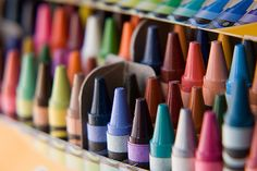 Love the smell of new crayons...Actually, I love to buy new school supplies!