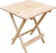 mesa dobrável p/ bar e restaurante madeira maciça natural