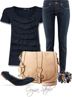 """Navy Neutral"" by orysa on Polyvore"