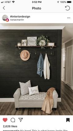Get These Top Trending how to shiplap bathroom to inspire you Black Accent Walls, Black Walls, Black Accents, Painting Shiplap, Shiplap Bathroom, Washroom, Accent Wall Bedroom, Little Corner, Ship Lap Walls