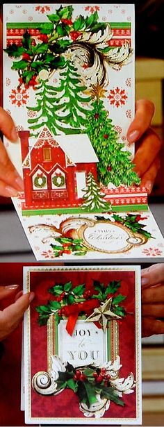 Anna Griffin® Christmas Pop-Up Cardmaking Kit - 7834435 Pop Up Christmas Cards, Chrismas Cards, Christmas Pops, Xmas Cards, Christmas Crafts, 3d Cards, Pop Up Cards, Card Making Kits, Making Ideas