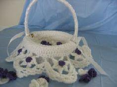 Flower Girl Basket Insert Free Crochet Pattern Matches Bouquet Cover