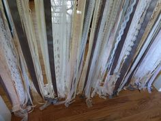 Wedding Backdrop Lace satin ribbon garland by coventgardenvintage, $150.00