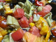 This recipe starts with 2 of the other recipes on this site, the roasted eggplant and the roasted peppers. If you have made those ahead and have them on hand it is very simple. Take roasted red and...