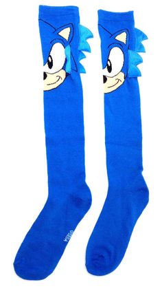 096a8f7a1d3 Other Womens Hosiery and Socks 11523  Sega Sonic The Hedgehog Knee High  Socks Womens Costume