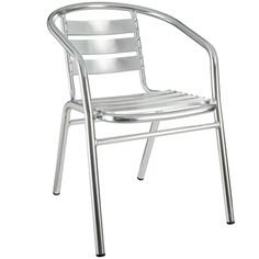 Aluminum Slat Stacking Arm Chair