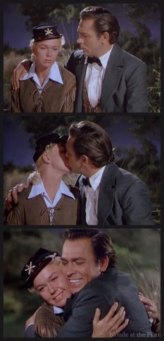 "Doris Day as 'Calam' and Howard Keel as 'Bill Hickok' in ""Calamity Jane"", 1953 Old Hollywood Stars, Hooray For Hollywood, Vintage Hollywood, Hollywood Glamour, Classic Hollywood, Hollywood Style, Classic Movie Stars, Classic Movies, Doris Day Movies"