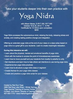 Creating And Practice A Yoga Nidra Script For Your Classes