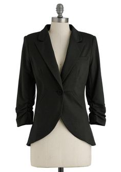 Fine and Sandy Blazer in Noir $59.99  http://www.modcloth.com/shop/blazers-vests/fine-and-sandy-blazer-in-noir
