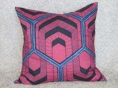 Cushion 2 - Open for more information and purchase details (www.prettyrooms.wordpress.com/products) #decor #home #cushion #decorating #interior Printed Cushions, Cushion Covers, Printing On Fabric, Wax, Wordpress, Vibrant, African, Colours, Throw Pillows