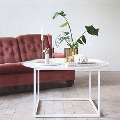 Kevytrakenteinen sohvapöytä sopii skandinaaviseen sisustukseen