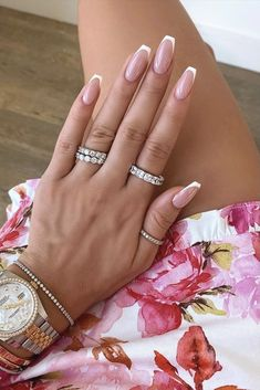 Chic Nails, Stylish Nails, Trendy Nails, August Nails, May Nails, Classy Acrylic Nails, Best Acrylic Nails, Gel Nagel Design, Classic Nails