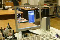Transparent computer monitor