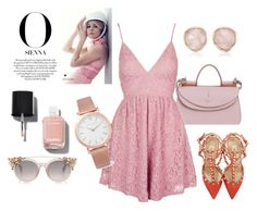 """Pink world"" by vanessalanzafame on Polyvore featuring moda, Topshop, Larsson & Jennings, Monica Vinader, Chanel e Valentino"
