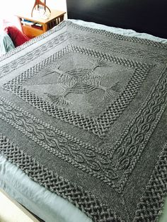 Free Knitting Pattern for Yggdrasil Afghan -Inspired by the World Tree of Norse Mythology, Lisa Jacobs' design features a central grove of four trees that grows into braided and leaf lace patterned borders. Three sizes: baby blanket, afghan, and large counterpane bedspread. This is one of 4 patterns in a free ebook download. You may need to enter your email address to download. Pictured project by inthewoods