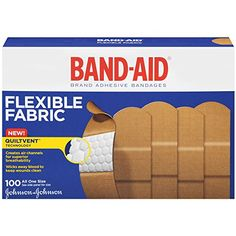Johnson & Johnson Band-Aid Brand Flexible Fabric Adhesive Bandages for Wound Care and First Aid, All One Size, 100 Count, Tan Wound Care, Johnson And Johnson, Sports Medicine, Band Aid, First Aid Kit, Travel Essentials, Travel Tips, Health And Beauty, Just In Case