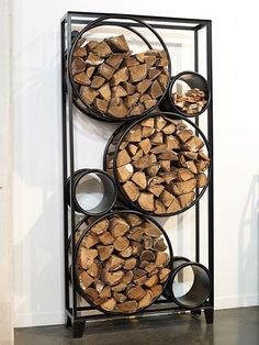 You need a indoor firewood storage? Here is a some creative firewood storage ideas for indoors. Outdoor Firewood Rack, Firewood Holder, Firewood Storage, Stove Fireplace, Fireplace Wall, Wood Store, Wood Shed, Into The Woods, Foyer Decorating