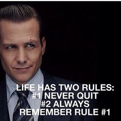 A little bit of motivation for all the ladies from the super sexy Harvey Specter…