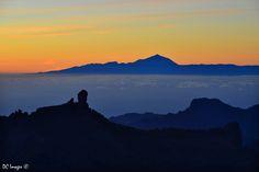 Con el Teide al fondo, un maravilloso atardecer desde #GranCanaria  - Foto de Amor Lucis