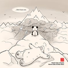 It's a universal misbelief that Pandas are lazy... Read the story: