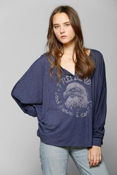 88f04394e Lyric Culture Free Bird Tee #urbanoutfitters Culture Clothing, Henley Tee,  Clothes For Sale