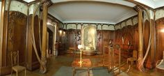 Art Nouveau Room in the Musee d'Orsay in Paris. how did i miss this when i was there????