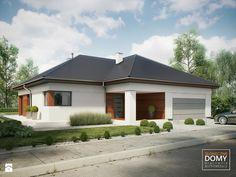 Balos A Domy - zdjęcie od Słoneczne Domy Building Design, Building A House, Gazebo, Pergola, Modern Villa Design, One Story Homes, Story House, Exterior Colors, Home Fashion