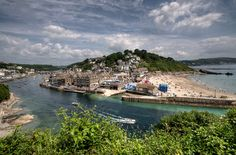 | River Looe and Town Beach Looe | Western Morning View in the Western Morning News 17th July 2014, Cornwall.