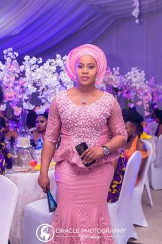 Eniola Badmus looks super elated as her friends and loved ones came to celebrate with her as she joyously throws a party for her dad's demise. All her guests at… African Lace Styles, African Lace Dresses, African Dresses For Women, African Attire, African Wear, African Style, African Beauty, African Women, African Fashion Ankara