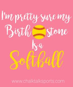 Softball Gifts - Sports Inspiration - You know what they say… diamonds are a girl& best friend! Cute Softball Quotes, Softball Catcher Quotes, Inspirational Softball Quotes, Softball Chants, Softball Memes, Softball Workouts, Softball Pictures, Fastpitch Softball, Softball Stuff