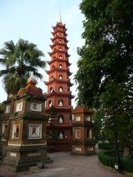 Hanoi, Vietnamese. Went there with my cousin and daughter. Beautiful place! Peaceful!