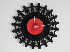 Little Kids Recycled Record Clock by RecordTimeClocks on Etsy, $28.00