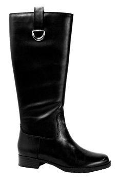 Ralph Lauren Black Leather Boots.