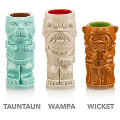 """Star Wars Geeki Tiki Mugs Take The Edge Off Our Summer-Long Thirst For """"The Last Jedi"""" Is there an endearing charm of summertime these kitschy Star Wars Geeki Tiki Ceramic Mugs don't honor in fine nerdy fashion? Star Wars Decor, Star Wars Art, Blue Harvest, Star Wars Drawings, Star Wars Merchandise, Star Wars Girls, Tiki Room, Star Wars Birthday, Nerd Geek"""