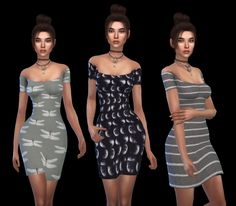 Leo 4 Sims: Claire Off Shoulder Dress My Sims, Sims Cc, Skater Dress, Bodycon Dress, Sims4 Clothes, Sims 4 Cc Packs, Sims 4 Clothing, Sims 4 Update, Sims 4 Custom Content