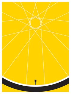 Symmetrical balance. The focal point is barely yet strongly present. Learn more: www.designprinciples101.com. JASON MUNN - Biker - Poster