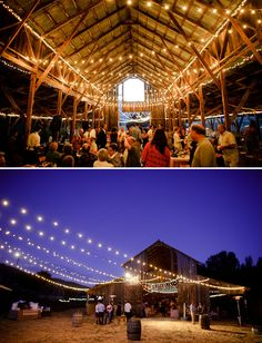 barn yard weddings aren't just for country folk. they're so beautiful.