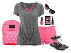 """""""Vacation Outfit"""" by mk-style ❤ liked on Polyvore featuring JanSport, H&M, Michael Kors, maurices, Surratt, OPI, Smashbox and Dolce&Gabbana"""
