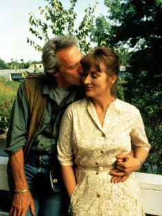 THE BRIDGES OF MADISON COUNTY A lonely housewife (Meryl Streep) has a passionate four-day affair with a National Geographic photographer (Clint Eastwood) in town to photograph those titular bridges. (Starring: Meryl Streep and Clint Eastwood; Clint Eastwood, Up Pixar, Richard Gere, Film D'animation, Film Serie, Meryl Streep, Love Movie, Movie Tv, Movie Photo