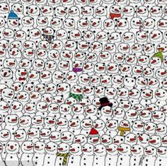 Find the Panda in a Sea of Snowmen - http://www.moillusions.com/21405-2/