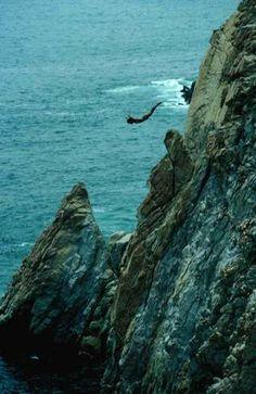 Cliff diving in Acapulco.