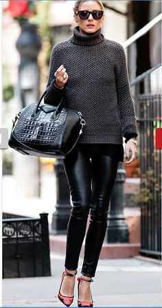 Olivia Palermo - Leather