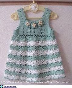 Openwork crochet dress for girls .. Discussion on LiveInternet - Russian Service Online Diaries