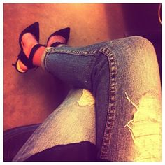 this jean/heel combo is my favourite at the moment.