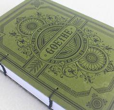 Goethe Rebound Journal Recycled Book by PrairiePeasant