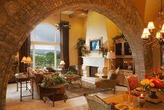 104 Shore Oaks - mediterranean - living room - austin - Vanguard Studio Inc.