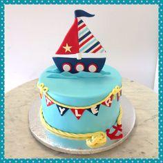 Adorable sailboat cake